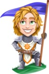 Blonde Prince with Armor Cartoon Vector Character AKA Edgar Medieval - Checkpoint