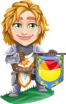 Blonde Prince with Armor Cartoon Vector Character AKA Edgar Medieval - Pie Chart