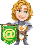Blonde Prince with Armor Cartoon Vector Character AKA Edgar Medieval - E-mail