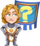 Blonde Prince with Armor Cartoon Vector Character AKA Edgar Medieval - Questionmark