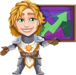 Blonde Prince with Armor Cartoon Vector Character AKA Edgar Medieval - Chart 2