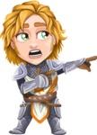 Blonde Prince with Armor Cartoon Vector Character AKA Edgar Medieval - Point