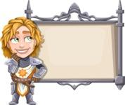 Blonde Prince with Armor Cartoon Vector Character AKA Edgar Medieval - Presentation 2