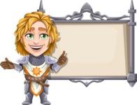 Blonde Prince with Armor Cartoon Vector Character AKA Edgar Medieval - Presentation 3