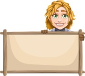 Blonde Prince with Armor Cartoon Vector Character AKA Edgar Medieval - Presentation 4