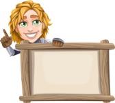 Blonde Prince with Armor Cartoon Vector Character AKA Edgar Medieval - Presentation 5