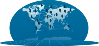Monochrome Globe Map