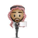 Arab Businessman Presenting