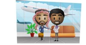 International Businessmen at Airport