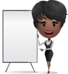 African American Business Woman Presenting