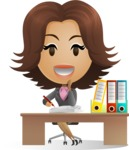Secretary at Office Desk