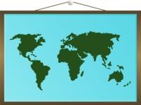World Map Board