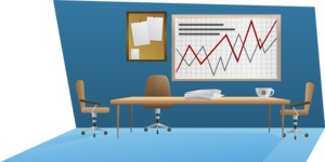 Business vector corporate-inspired graphic pack from GraphicMama, designed in a gradient flat style - Conference Room