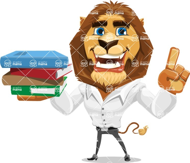 Business Lion Vector Cartoon Character AKA Lionello - Book 2
