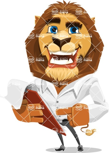 Business Lion Vector Cartoon Character AKA Lionello - Notepad 3