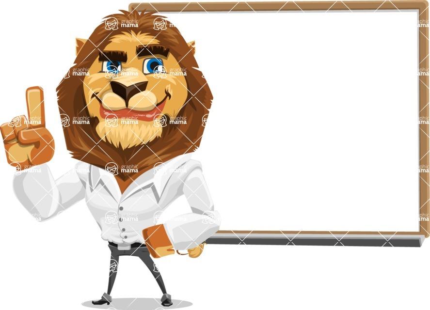 Business Lion Vector Cartoon Character AKA Lionello - Presentation 3