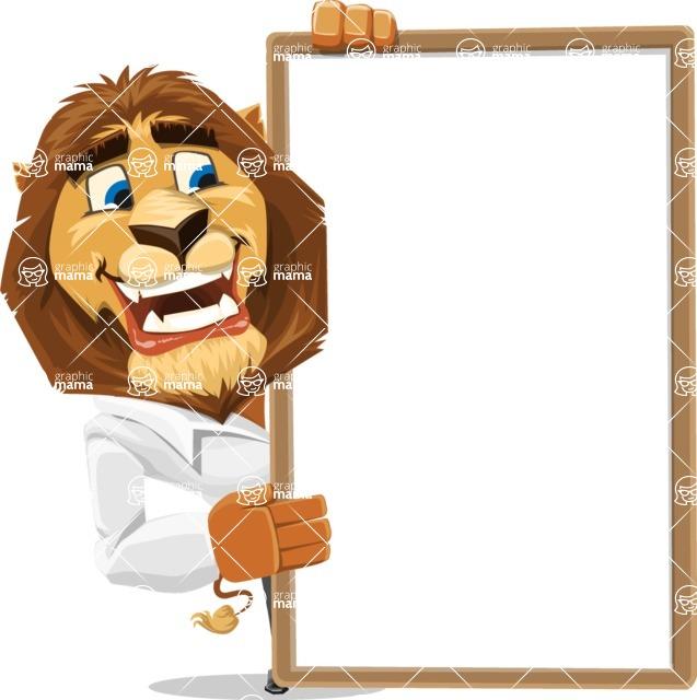 Business Lion Vector Cartoon Character AKA Lionello - Presentation 4