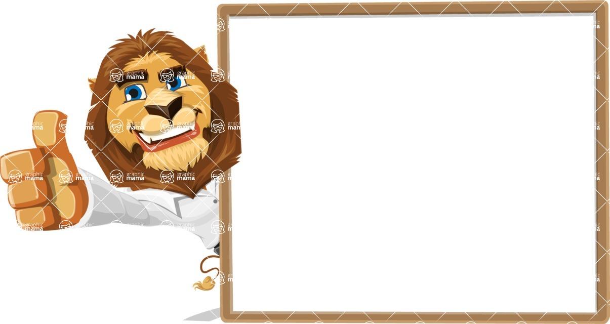 Business Lion Vector Cartoon Character AKA Lionello - Presentation 5