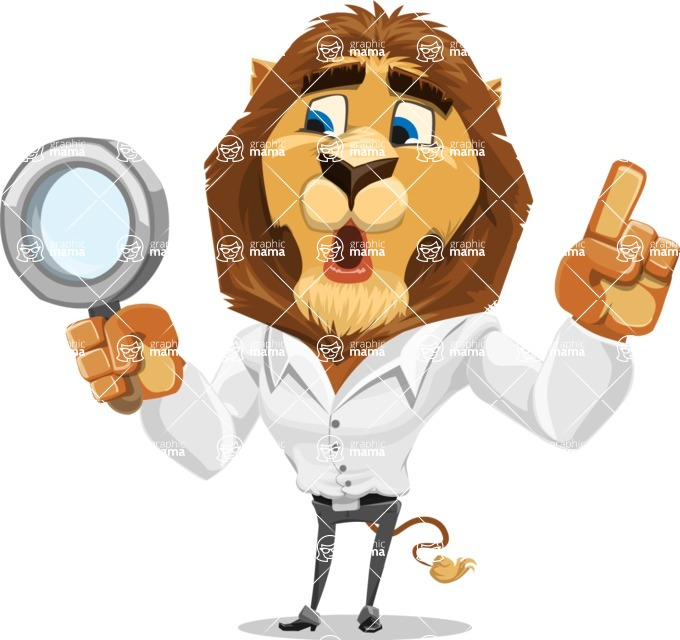 Business Lion Vector Cartoon Character AKA Lionello - Search