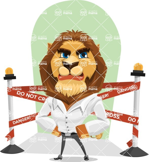 Business Lion Vector Cartoon Character AKA Lionello - Shape 10
