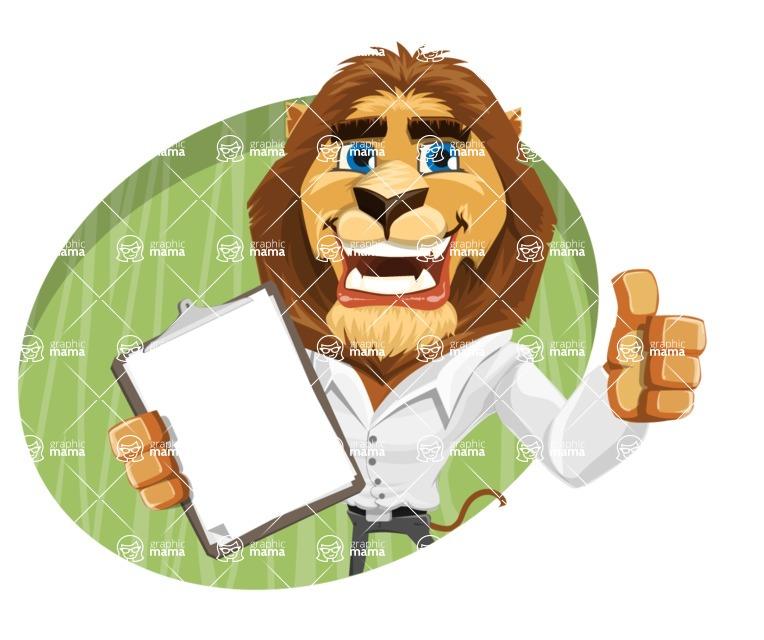 Business Lion Vector Cartoon Character AKA Lionello - Shape 4