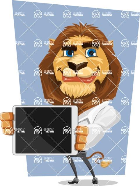 Business Lion Vector Cartoon Character AKA Lionello - Shape 5