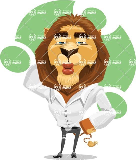 Business Lion Vector Cartoon Character AKA Lionello - Shape 7