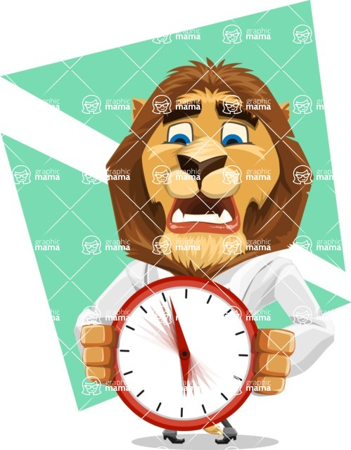 Business Lion Vector Cartoon Character AKA Lionello - Shape 8