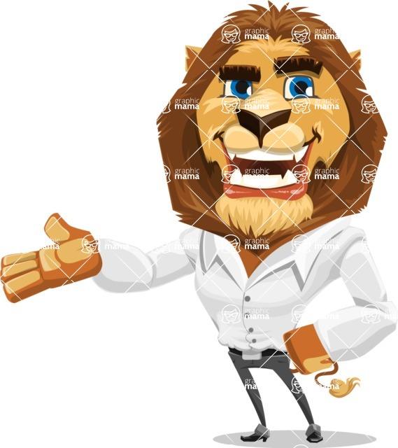 Business Lion Vector Cartoon Character AKA Lionello - Showcase 2