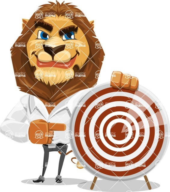 Business Lion Vector Cartoon Character AKA Lionello - Target