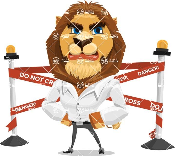Business Lion Vector Cartoon Character AKA Lionello - Under Construction 2