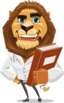 Business Lion Vector Cartoon Character AKA Lionello - Book 3