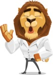 Business Lion Vector Cartoon Character AKA Lionello - Bored 2