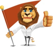 Business Lion Vector Cartoon Character AKA Lionello - Checkpoint