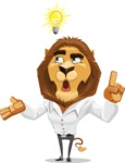 Business Lion Vector Cartoon Character AKA Lionello - Idea 2