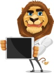 Business Lion Vector Cartoon Character AKA Lionello - iPad 2