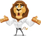 Business Lion Vector Cartoon Character AKA Lionello - Lost