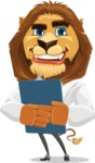 Business Lion Vector Cartoon Character AKA Lionello - Notepad 2