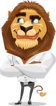Business Lion Vector Cartoon Character AKA Lionello - Petient