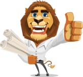 Business Lion Vector Cartoon Character AKA Lionello - Plans