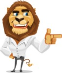 Business Lion Vector Cartoon Character AKA Lionello - Point