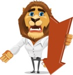 Business Lion Vector Cartoon Character AKA Lionello - Pointer 3