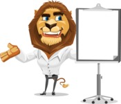 Business Lion Vector Cartoon Character AKA Lionello - Presentation 1