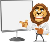 Business Lion Vector Cartoon Character AKA Lionello - Presentation 2