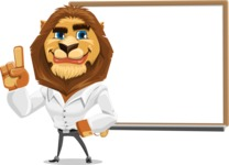 Business Lion Vector Cartoon Character AKA Lionello - Presentation 3