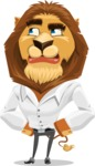 Business Lion Vector Cartoon Character AKA Lionello - Roll Eyes