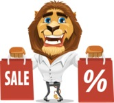 Business Lion Vector Cartoon Character AKA Lionello - Sale 2