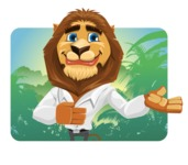 Business Lion Vector Cartoon Character AKA Lionello - Shape 1