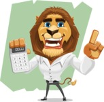 Business Lion Vector Cartoon Character AKA Lionello - Shape 12