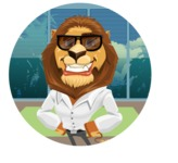Business Lion Vector Cartoon Character AKA Lionello - Shape 2